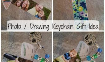 Photo / Drawing Keychain Gift [from kids] Idea!
