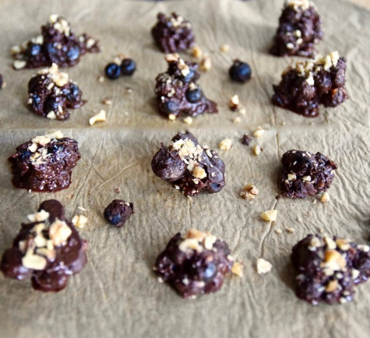 Chocolate Blueberry Nut Clusters